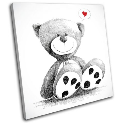 Teddy Bear Heart Love - 13-1868(00B)-SG11-LO